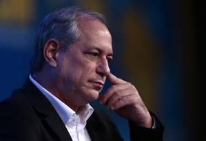 O pré-candidato do PDT à Presidência Ciro Gomes Foto: Jorge William / Agência O Globo 22/05/2017