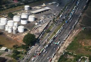 Greve dos Caminhoneiros na BR-040 Foto: Agência O Globo