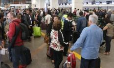 Aeroporto Internacional Juscelino Kubitschek, em Brasília, com filas atrasos e cancelamentos de voos Foto: Givaldo Barbosa / Agência O Globo
