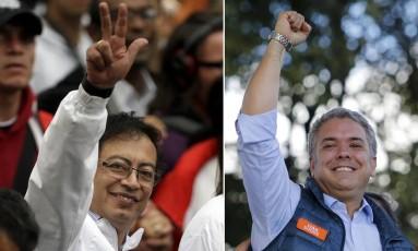Petro e Duque: um é ex-guerrilheiro; o outro é afilhado político de Uribe Foto: Fernando Vergara / AP