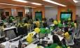 Funcionários da Monsanto prontos para curtir os jogos Foto: Divulgação
