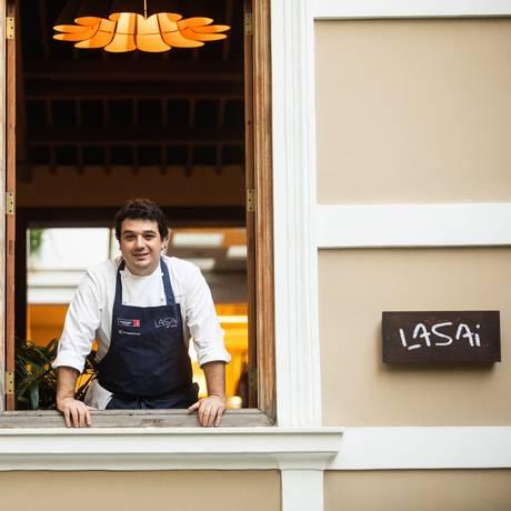 O chef Rafa Costa e Silva, do Lasai Foto: Bárbara Lopes / Agência O Globo