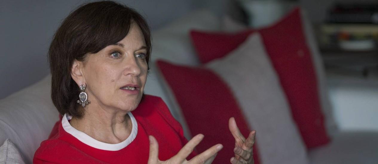 A senadora francesa e feminista Laurence Rossignol defende a descriminalização do aborto como medida de saúde pública Foto: Roberto Moreyra / Agência O Globo