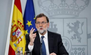 Em defesa própria. Presidente do governo espanhol, Mariano Rajoy, refuta motivos para pedir demissão; seu partido se vê em vulnerabilidade Foto: STRINGER / REUTERS