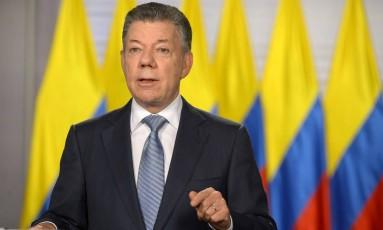 Presidente da Colômbia, Juan Manuel Santos anunciou entrada do país na Otan Foto: HANDOUT / REUTERS