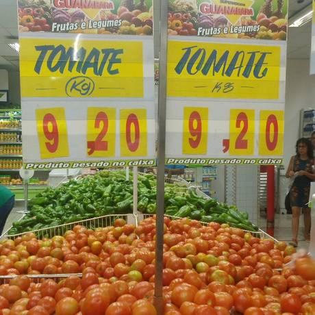 Guanabara vende tomate por R$ 9,20 o quilo e é notificado a comprovar aumento de preço do fornecedor Foto: Divulgação