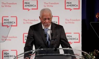 O ator Morgan Freeman foi acusado de assédio por jornalistas e colegas de trabalho Foto: LUCAS JACKSON / REUTERS