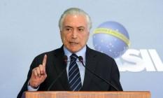 Michel Temer: a requisição de bens é permitida pela Constituição Foto: Antonio Cruz/Agência Brasil