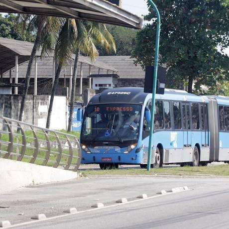 Movimento nas estações BRT durante greve dos caminhoneiros Foto: Paulo Nicolella / Agência O Globo