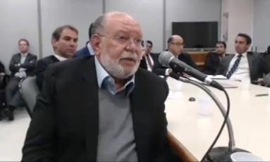 Léo Pinheiro, ex-presidente da OAS, presta depoimento Foto: Reprodução