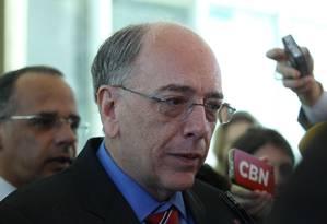 O presidente da Petrobras, Pedro Parente, durante entrevista Foto: Jorge William/Agência O Globo/22-05-2018
