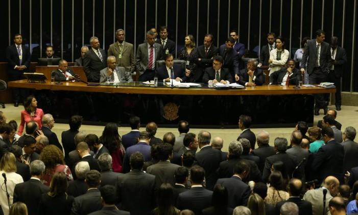 Plenário da Câmara dos Deputados Foto: Ailton de Freitas / Agência O Globo