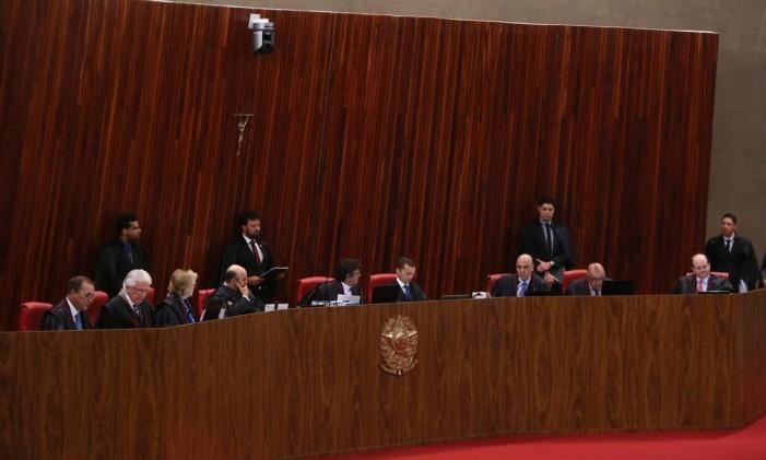 Sessão Tribunal Superior Eleitoral (TSE) Foto: Ailton de Freitas / Agência O Globo