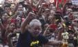 Lula em ato em São Bernardo do Campo
