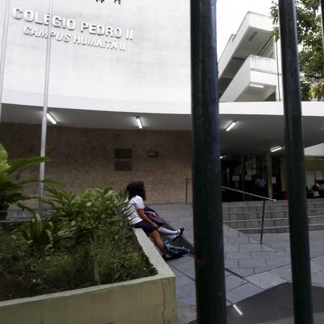 O Colégio Pedro II é uma das instituições de ensino que suspendeu suas aulas por conta da greve Foto: Marcelo Theobald 06-03-2018 / Agência O Globo