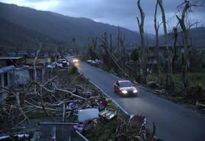 Porto Rico foi uma das ilhas do Caribe afetadas pelo furacão Maria Foto: Gerald Herbert / AP