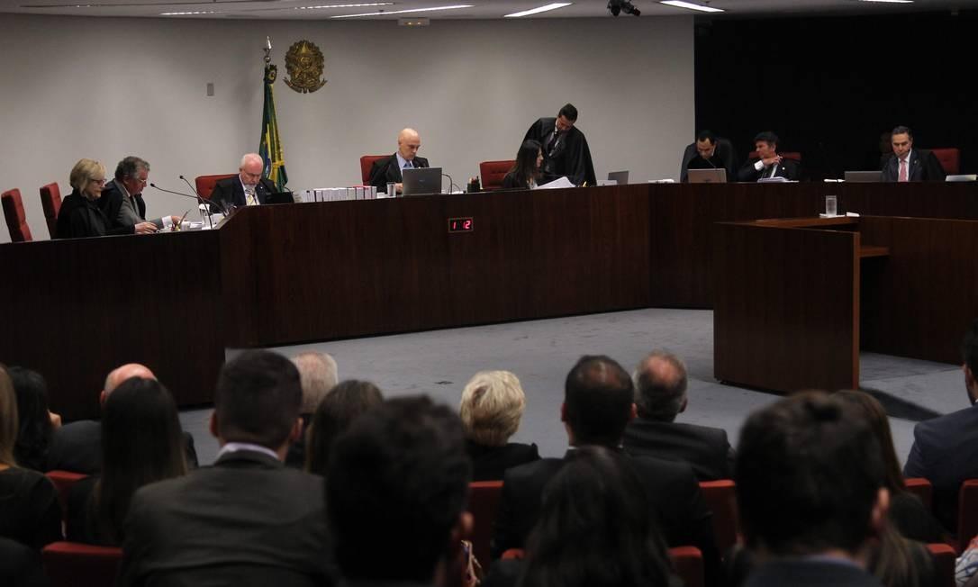 Sessão da Primeira Turma do Supremo Tribunal Federal Foto: Ailton de Freitas/Agência O Globo/17-04-2018