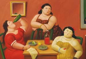 Quadro do artista colombiano Fernando Botero, conhecido por seus personagens 'gordinhos': estudo é nova contradição ao mito da 'obesidade saudável' Foto: Reprodução