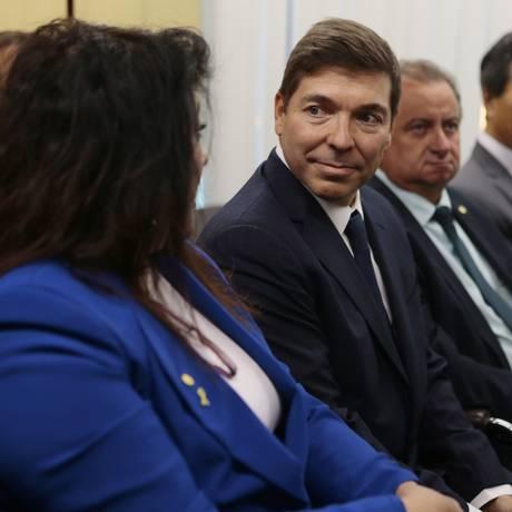 O empresário Josué Alencar (PR) se reúne com a bancada do PR Foto: Jorge William / Agência O Globo