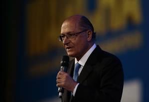 O pré-candidato do PSDB à Presidência, Geraldo Alckmin Foto: Jorge William / Agência O Globo