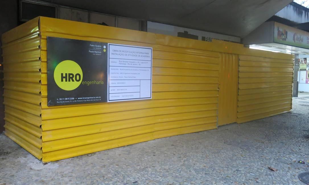 Espaço onde funcionou Cine Paissandu deixa saudosos os moradores do Flamengo Foto: Elis Bartonelli / Agência O Globo