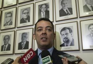 Leonardo Arantes, secretário-executivo do Ministério do Trabalho, durante entrevista Foto: Sergio Amaral/Ministério do Trabalho/23-05-2018