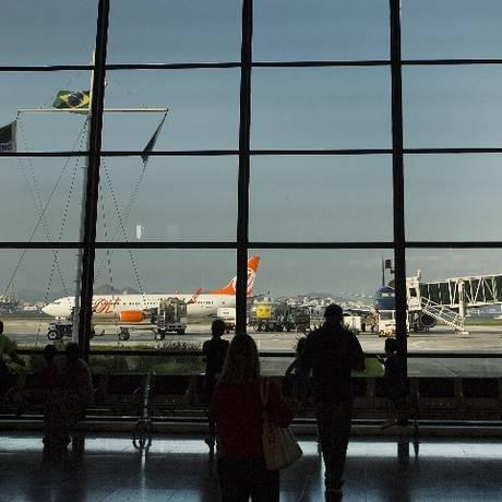 Saguão do aeroporto Santos Dumont Foto: Arquvo
