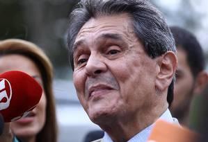 O ex-deputado Roberto Jefferson, durante entrevista Foto: Jorge William / Agência O Globo