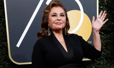 Roseanne Barr na última edição do Globo de Ouro Foto: MARIO ANZUONI / REUTERS