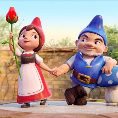 Cena do filme 'Gnomeu e Julieta e o mistério do jardim' Foto: Photo Credit: Paramount Pictures / Divulgação