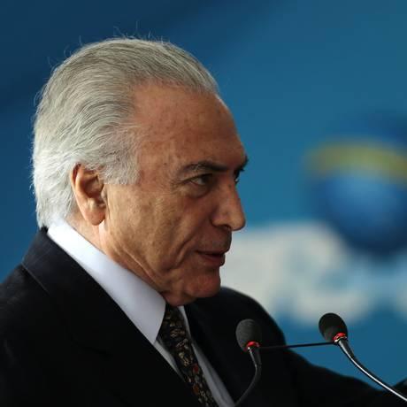 O presidente Michel Temer participa da posse de Ronaldo Fonseca na Secretaria-Geral da Presidência Foto: Jorge William/Agência O Globo/28-05-2017