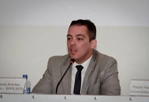 Leonardo Arantes participa de evento na Finatec Foto: Albino Oliveira/Ministério do Trabalho