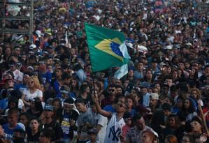 Marcha para Jesus em São Paulo atraiu candidatos à Presidência Foto: Marcos Alves / Agência O Globo