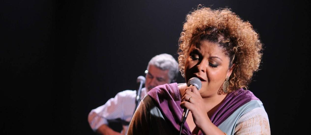 A cantora Fabiana Cozza no palco Foto: Divulgação