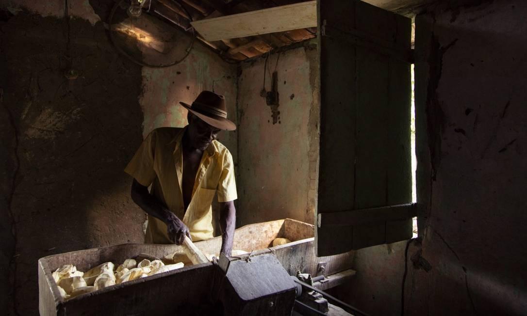 Casa de farinha artesanal de copioba em Maragojipe Foto: Leo Martins / Agência O Globo