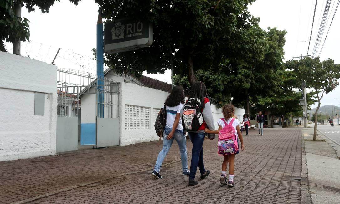 Escola Municipal Espírito Santo, em Cavalcanti Foto: Fabiano Rocha / Agência O Globo