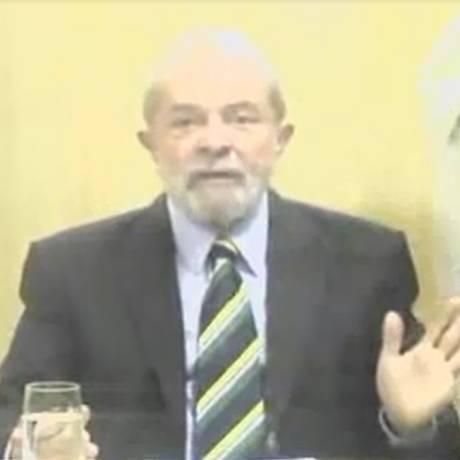 Lula em depoimento ao juiz Marcelo Bretas por videoconferência Foto: Reprodução
