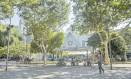 Atrações típicas. Praça será ocupada com barracas de comidas de países como Portugal e Japão Foto: Roberto Moreyra / Agência O Globo