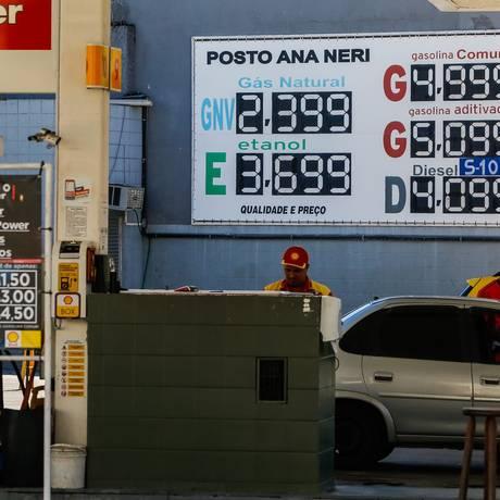 Posto de gasolina em Benfica, na Zona Norte do Rio de Janeiro Foto: Marcelo Régua/Agência O Globo/31-05-2018