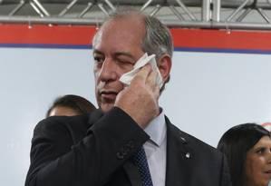 Ciro Gomes, pré-candidato à Presidência da República do PDT 08/03/2018 Foto: Ailton de Freitas / Agência O Globo