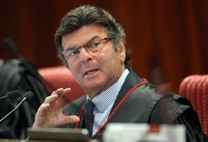 O ministro Luiz Fux, durante sessão do TSE Foto: Divulgação/TSE