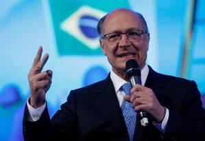 Geraldo Alckmin participa de evento com prefeitos em Brasília Foto: Adriano Machado/Reuters/23-05-2018