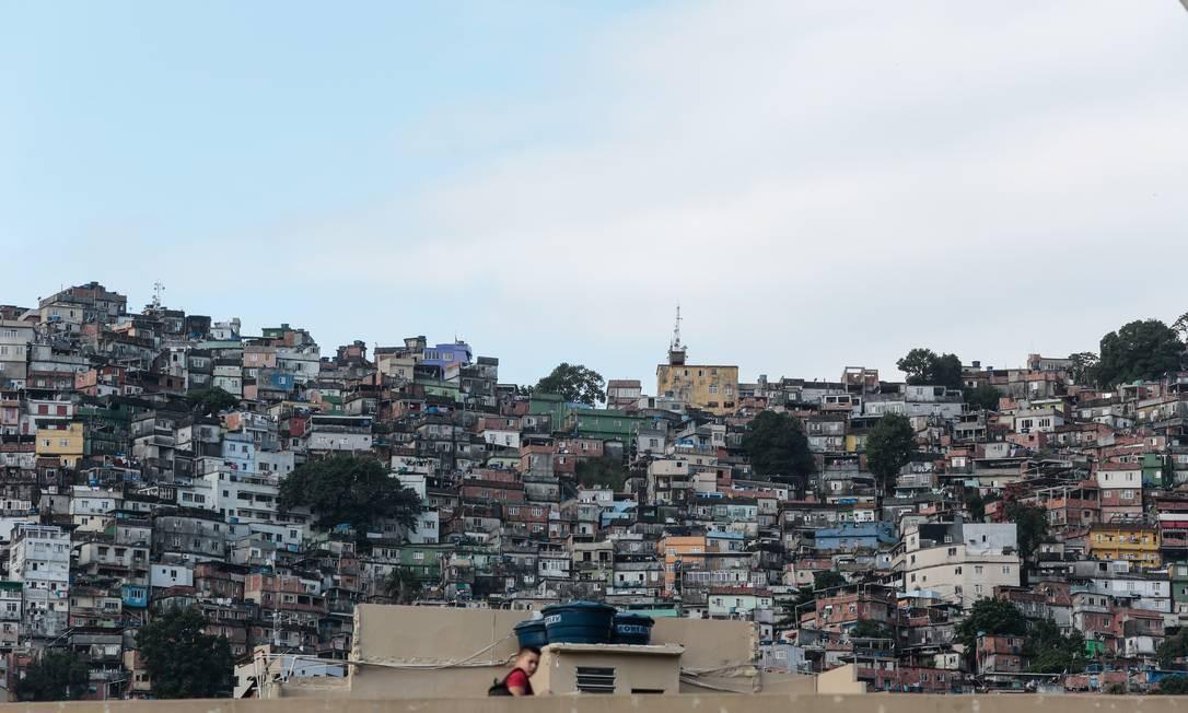 Comunidade da Rocinha, em São Conrado, na Zona Sul do Rio Foto: Brenno Carvalho / Agência O Globo