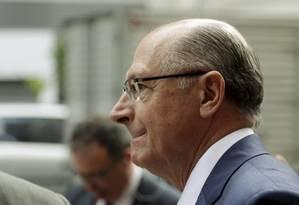 O pré-candidato à Presidência, Geraldo Alckmin, em evento no Rio de Janeiro Foto: Gabriel de Paiva / Agência O Globo