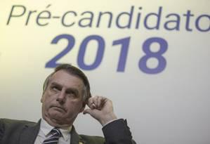 Pré-candidato pelo PSL, Jair Bolsonaro participa de sabatina no 'Correio Braziliense' Foto: Daniel Marenco / Agência O Globo