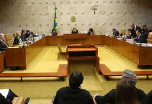 Plenário do STF durante Julgamento do voto impresso Foto: Ailton de Freitas / Agência O Globo