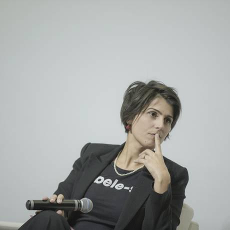 Pré-candidata à Presidencia pelo PCdoB, Manuela D'Avila participa de sabatina no 'Correio Braziliense' Foto: Daniel Marenco / Agência O Globo