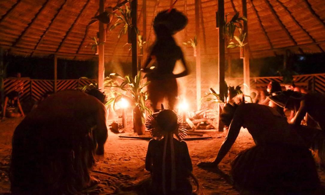 Mundurukus, que significa formigas vermelhas, são famosos pela tradição guerreira dos seus antepassados. Foto: Gabriel de Paiva / Agência O Globo