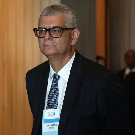 Ivan Monteiro, presidente da Petrobras, esteve na 4ª Rodada do Leilão do pré-sal. Foto: Márcio Alves / Agência O Globo