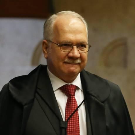 O ministro Edson Fachin, durante sessão do Supremo Tribunal Federal Foto: Ailton de Freitas/Agência O Globo/06-06-2018